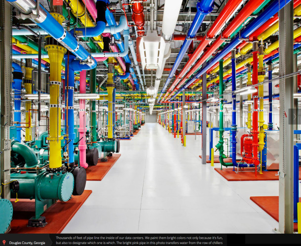 Google Data Center Water Pipes