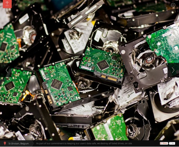 Google Data Center Destroy Hard Drives