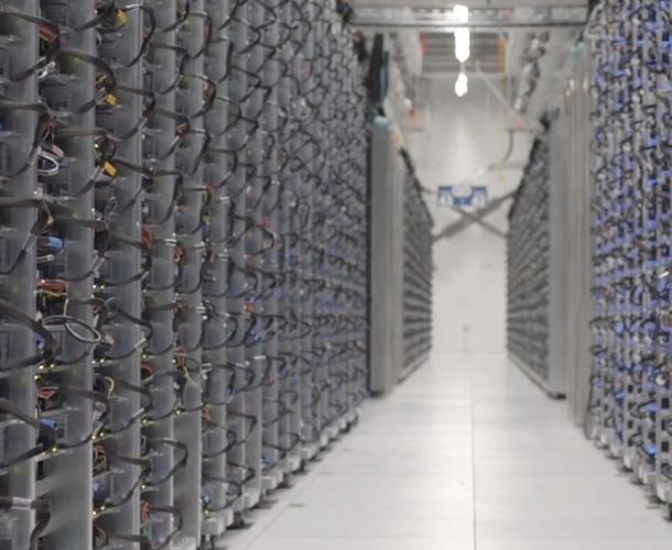 Google Data Center Server Cabling