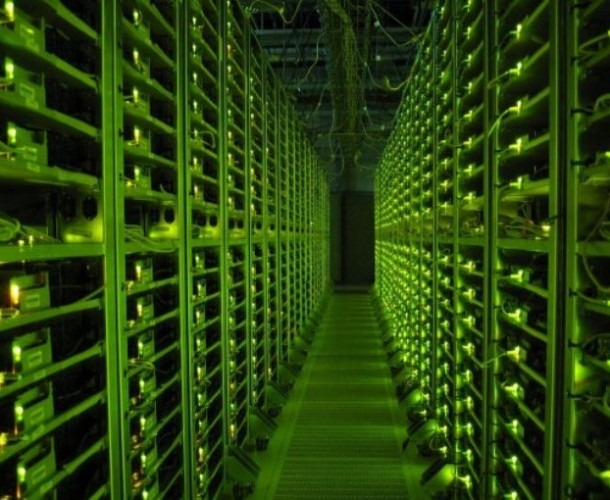 Google Data Center At Night
