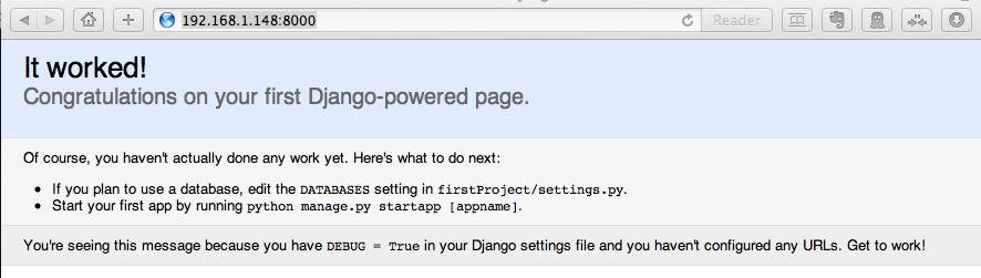 default django website