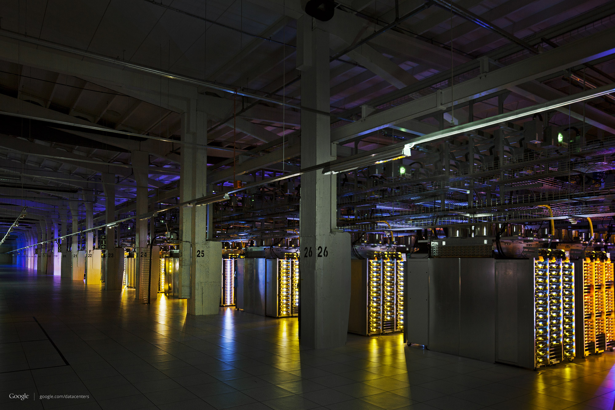 Server Room Construction : Google data center pictures year in review