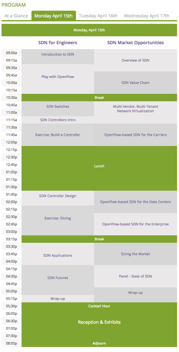 ONS Schedule Day 1