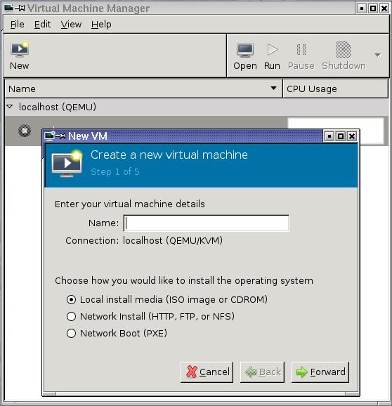 KVM Virt-Manager