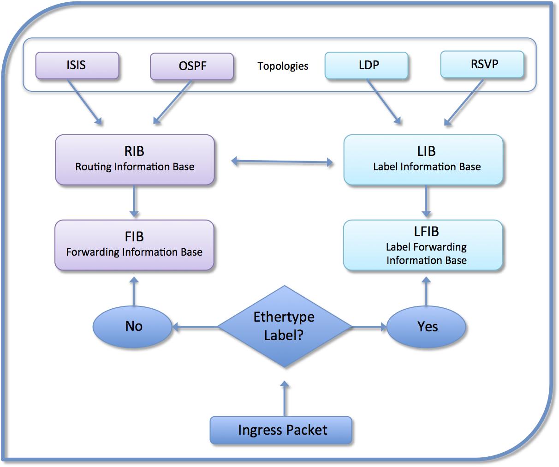 Juniper and Cisco Comparisons of RIB, LIB, FIB and LFIB Tables